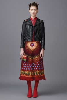 Valentino Pre-Fall 2016 Fashion Show.  I wouldn't wear this but is it me or is this a little Frida Khalo?