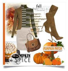 """Pumpkin Spice Style"" by kari-c ❤ liked on Polyvore featuring Maison Margiela, Gianvito Rossi, MICHAEL Michael Kors and pss"