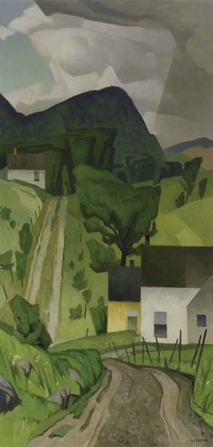 Country Road by Alfred Joseph Casson, Member of the Group of Seven artists; (the Algonquin School, Canadian Art, Art Painting, Cityscape, Abstract Landscape, Group Of Seven Art, Canadian Painters, Seascape, Abstract, Landscape Art