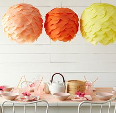 Pretty much <3 every DIY thing on this blog. Paper lanterns, bows, fabric flowers, everything!