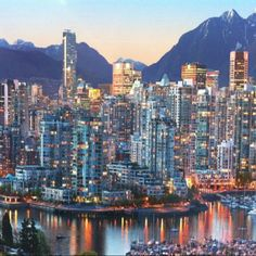 Vancouver Canada at sunset