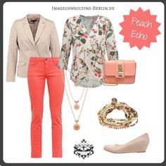 "Frühling/Sommer 2016 Trendfarbe ""Peach Echo"" : Outfit für den Frühlingstypen oder ""warm"""