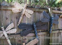 You will love these DIY Table leg Dragonfly Garden Art Ideas and they are easy when you know how. Watch the video now and Pin your favorites.