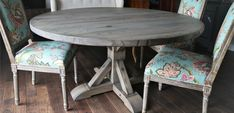Rustic Elements Furniture custom builds round tables, available in your choice of wood, style, and distress. 60 Inch Round Table, Round Tables, Dining Chairs, Dining Room, Custom Furniture, House Plans, Rustic, Wood, Home Decor