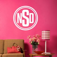 Monogram Circle 2 Wall Art Decals  check this out. I like the monogram ones for your room