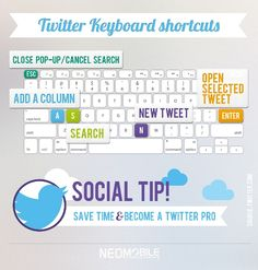 Do you use #Twitter #keyboard shortcuts? Check out Neomobile's tip and save time!