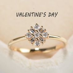 On sale Snowflake Diamond Ring in 14K Rose GoldUnique by RingOnly