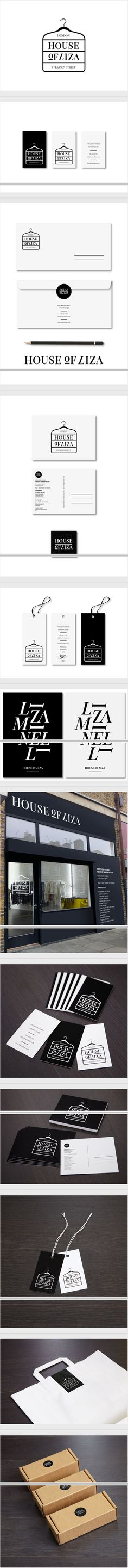 More black and white House of Liza / 2012 #identity #packaging #branding curated by Packaging Diva PD