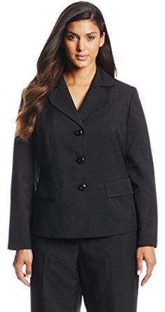 4f47cf8ed05 Le Suit Women s Plus-Size 3 Button Glazed Suit Jacket
