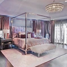 Dream bedroom by the talented ! Did you know she also offers virtual designs? check it out! - Architecture and Home Decor - Bedroom - Bathroom - Kitchen And Living Room Interior Design Decorating Ideas - Glam Bedroom, Home Decor Bedroom, Modern Bedroom, Bedroom Ideas, Master Bedroom, Guest Bedrooms, Fancy Bedroom, Bedroom Romantic, Bedroom Bed