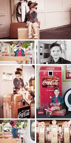 Rockabilly, vintage, retro, three year old photo session