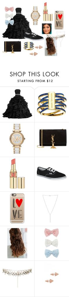 """Prom Project 12"" by courts-rara on Polyvore featuring Michael Kors, Yves Saint Laurent, Justin Bieber, Vans, Casetify, Diane Kordas, Decree, Eddie Borgo, women's clothing and women"