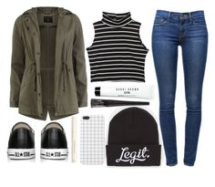 """""""Cold ❄"""" by iarsotelo on Polyvore featuring Dorothy Perkins, Frame Denim, Converse, Neff, Bobbi Brown Cosmetics and H&M"""
