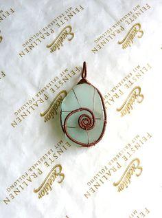 Sea glass pendant Genuine Sea glass Wire Wrapped pendant by Spti, $20.25