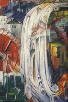 Cubism/Expressionism- Franz Marc - The Bewitched Mill, 1913 at the Art Institute of Chicago IL Franz Marc, Wassily Kandinsky, Cavalier Bleu, Blue Rider, Expressionist Artists, August Macke, Art Institute Of Chicago, Art Graphique, Art Google