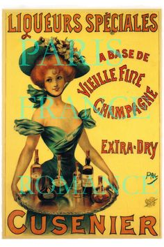 Vintage French Posters | French Antique Vintage Postcard Poster Ad, Digital Download, Girl Hat ...