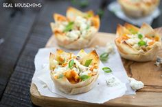 Cheesy Buffalo Chicken Cups are made with only five ingredients! Just like your favorite dip with a little crunch!