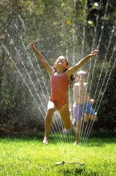 This Summer I'm running through the water sprinkler with my granddaughters for the first time since I was a little girl :)