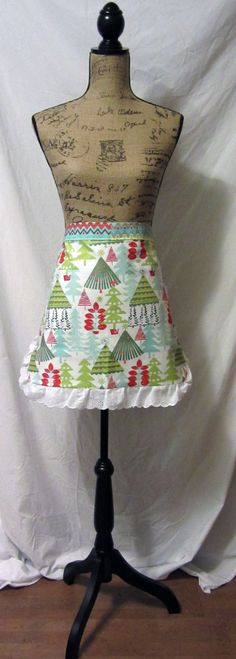 Retro Style Reversible Cocktail Apron Christmas by TikiQueenArts, $35.00
