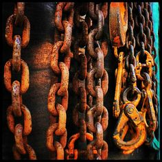 old oil field chains