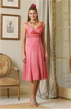 Knee-length Ruffles Sleeveless A-line Bridesmaid #Dress $59