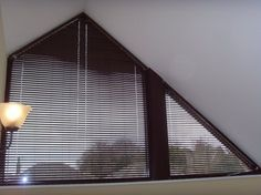 curtains or blinds on triangle windows - Google Search