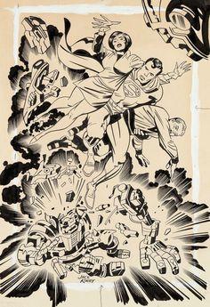 Cap'n's Comics: Unused Superman Puzzle by Jack Kirby
