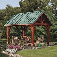 Wood Rectangle Pavilions | Alpine Style Pavilion Kits