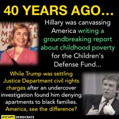 40 years ago...see the difference between Hillary & Trump.