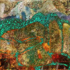 Michèle Brown Artist - The Old Cells Studio: Up the mountain path - iPad painting and collage