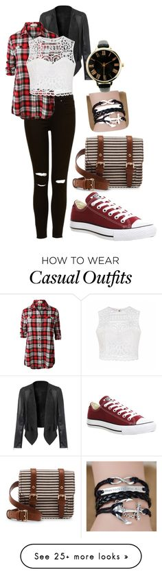 """""""Casuality"""" by vericaa17 on Polyvore featuring moda, LE3NO, Ally Fashion, Converse ve Sole Society"""