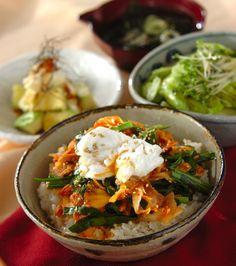 「豚キムチ丼」の献立・レシピ - 【E・レシピ】料理のプロが作る簡単レシピ/2016.02.10公開の献立です。