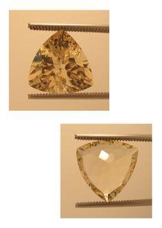 Golden Sunstone (Labradorite) Origin: Oregon USA, trillion 15,75 ct 18 x 18 x 11 mm – www.kn-jewellery.com - email: kn-jewellery@email.de