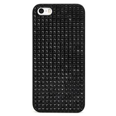 BaubleBar Black Sparkle iPhone 5 Case ($28) ❤ liked on Polyvore featuring accessories, tech accessories, phone cases, phone, case and tech