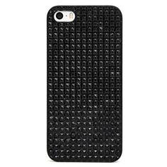 BaubleBar Black Sparkle iPhone 5 Case ($28) ❤ liked on Polyvore