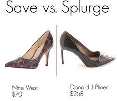 Save vs. Splurge: Donald J Pliner