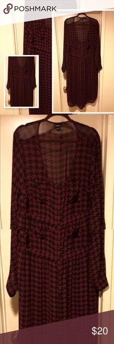 Torrid button up shirt dress Torrid button down checkered blouse   excellent condition %100 polyester torrid Skirts