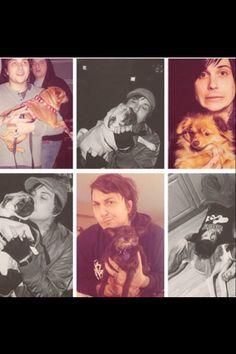Frank Iero and cute little doggies