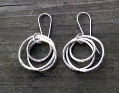 Brushed Circlet Earrings by Bybella on Etsy https://www.etsy.com/listing/157613075/brushed-circlet-earrings