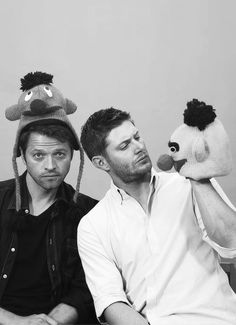 misha collins and jensen ackles // if there's two thing I know, 1: Burt and Ernie are gay cx