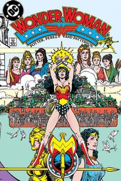 Wonder Woman #1 1987 by George Perez. A prized piece in my collection. I have a mint copy in the wrapper, which I've had George Perez sign and another well-read copy, which he has also signed.