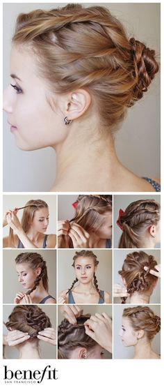 We love this twist on a classic bun! This would look perfect for wedding or even Christmas party hair! xx
