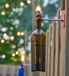Glass Bottle Torch | Craft projects for every fan!