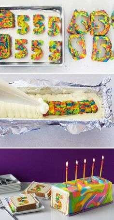 How To Make A Rainbow Tie-Dye Surprise Cake