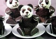 Panda cupcakes!  These are too cute!
