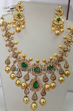 Filigree Work Polki Set | Jewellery Designs