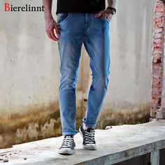 0fa94f51455 IEMUH Plus Size Jeans Man Denim Jeans Casual Middle Waist Loose Long ...