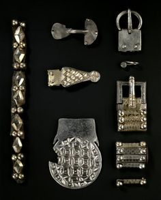 Bow brooch of silver, from Traprain Law, East Lothian, 410 - 425 AD