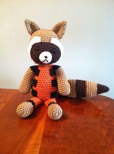 Pattern Rocket Raccoon Crochet Large Plush PDF by knovak88 on Etsy