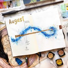 Raise your hand if you are obsessed with both Harry Potter and Bullet Journals? Read this for the best Harry Potter Bullet Journal Layout and Spread ideas! Bullet Journal Monthly Spread, Bullet Journal Ideas Pages, Bullet Journal Inspo, Journal Pages, Harry Potter Journal, Harry Potter Planner, Harry Potter Calendar, Journal Inspiration, Bellet Journal